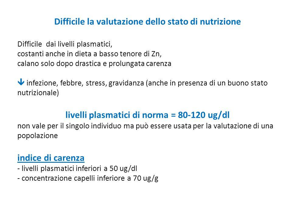 Difficile la valutazione dello stato di nutrizione