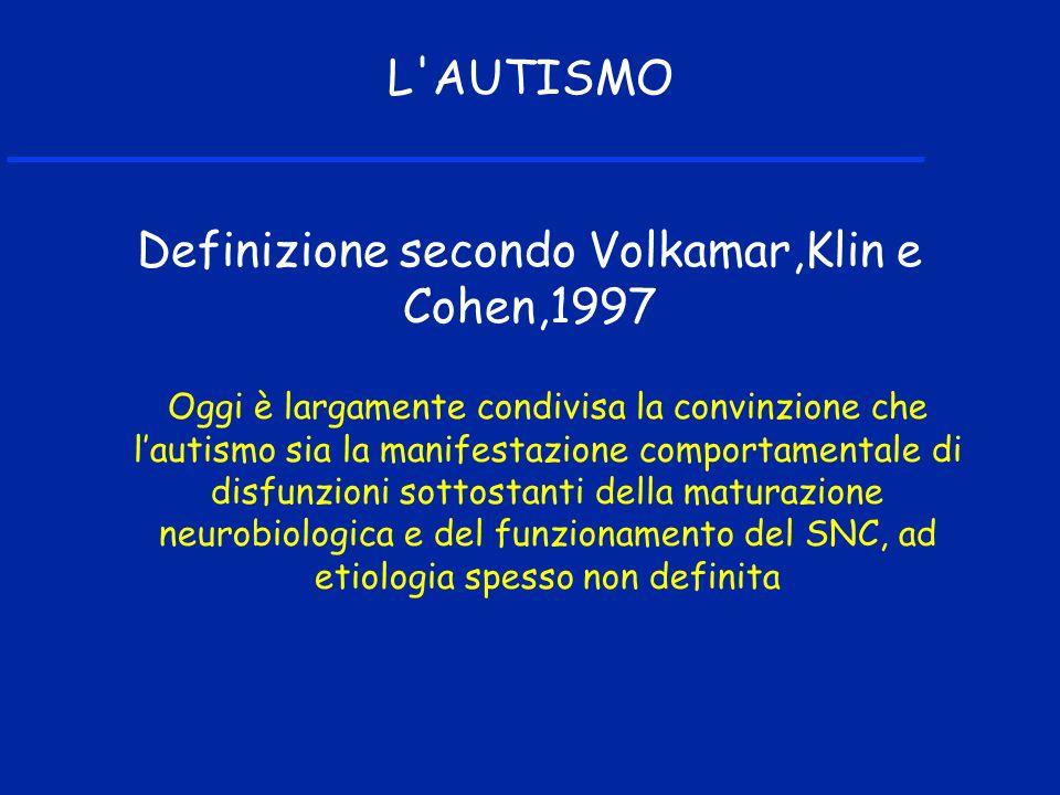 Definizione secondo Volkamar,Klin e Cohen,1997