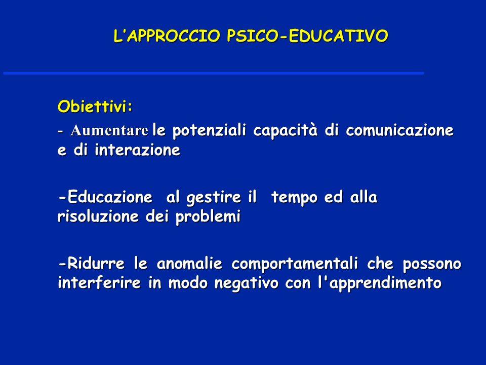 L'APPROCCIO PSICO-EDUCATIVO