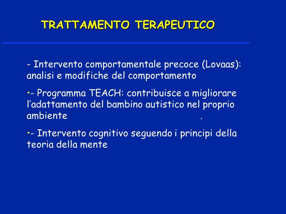 TRATTAMENTO TERAPEUTICO