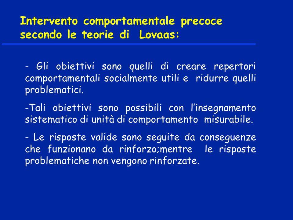 Intervento comportamentale precoce secondo le teorie di Lovaas:
