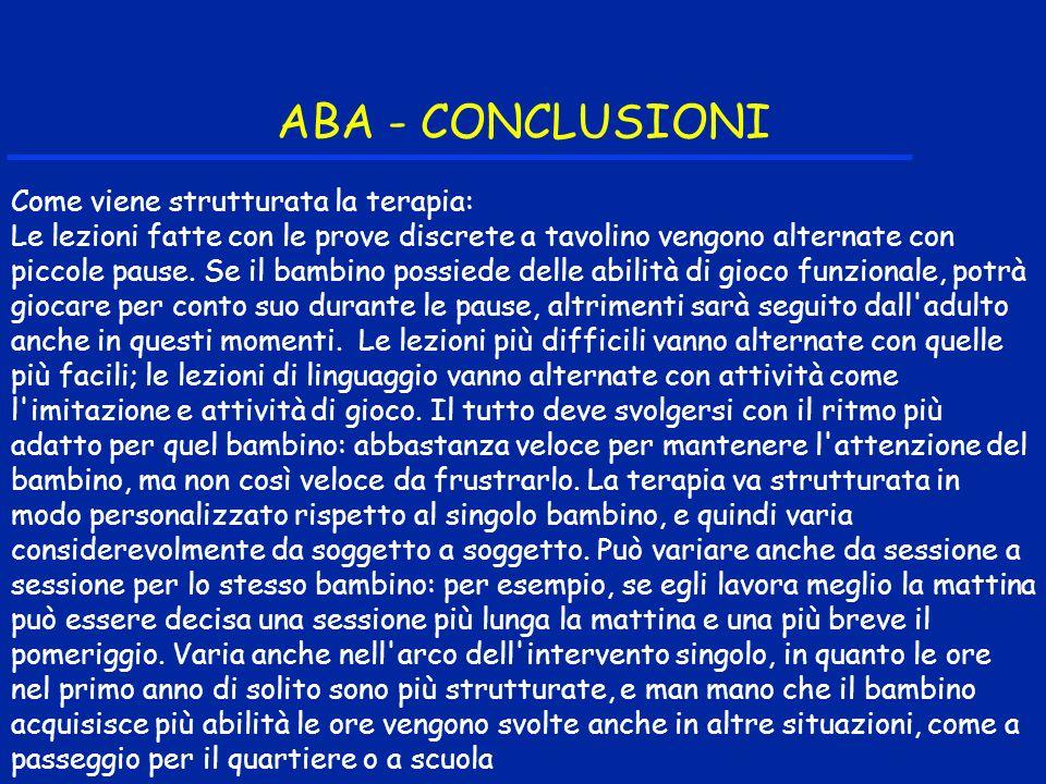 ABA - CONCLUSIONI