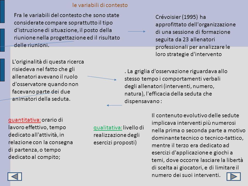 le variabili di contesto