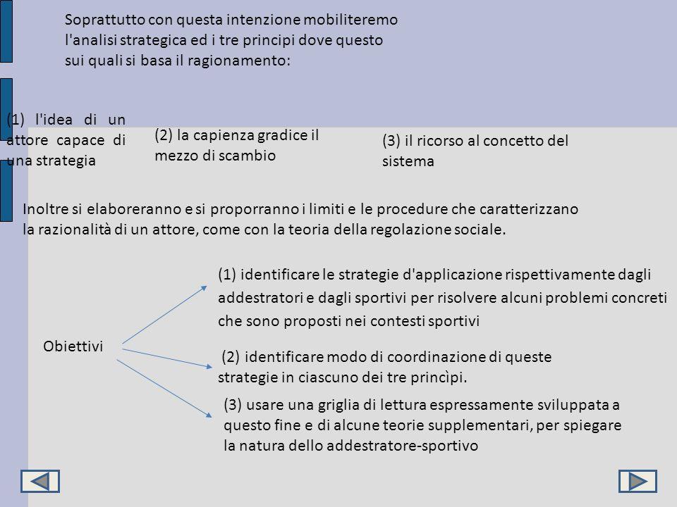 Soprattutto con questa intenzione mobiliteremo l analisi strategica ed i tre principi dove questo sui quali si basa il ragionamento: