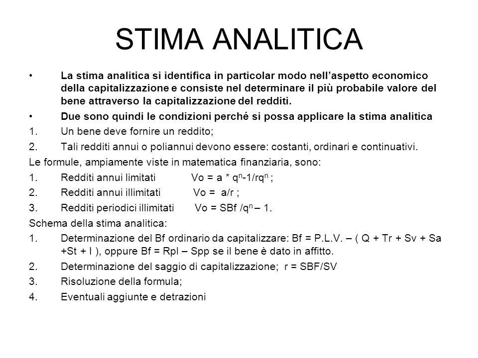 STIMA ANALITICA