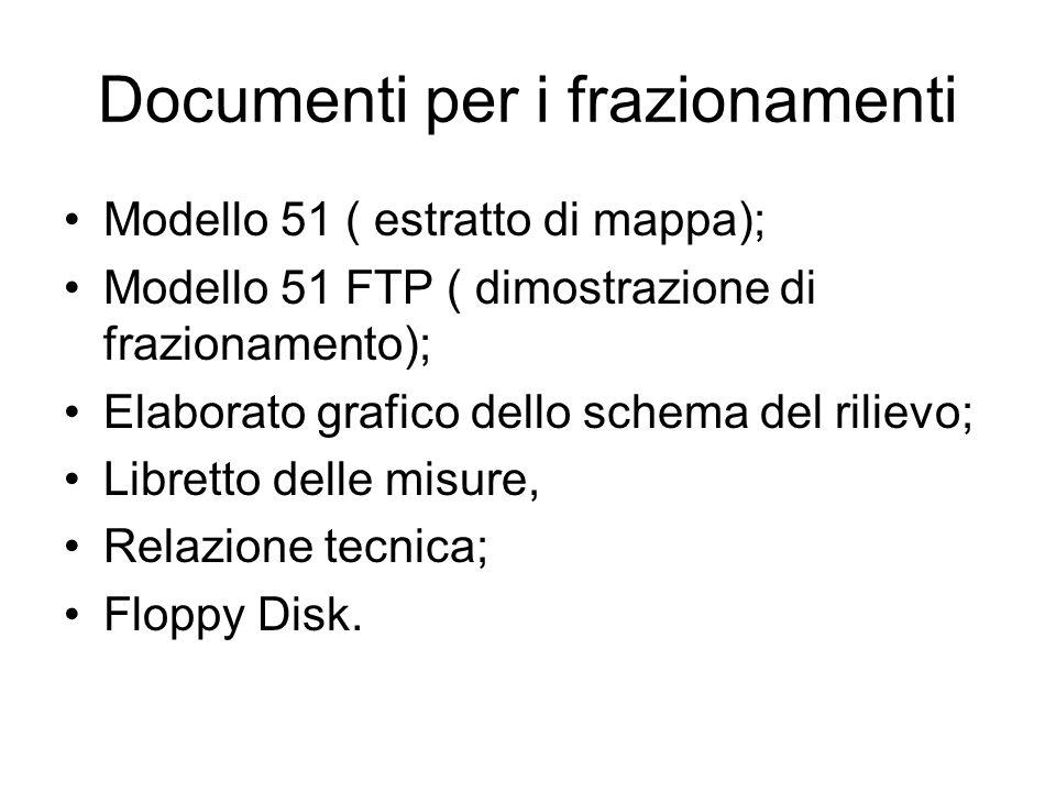 Documenti per i frazionamenti