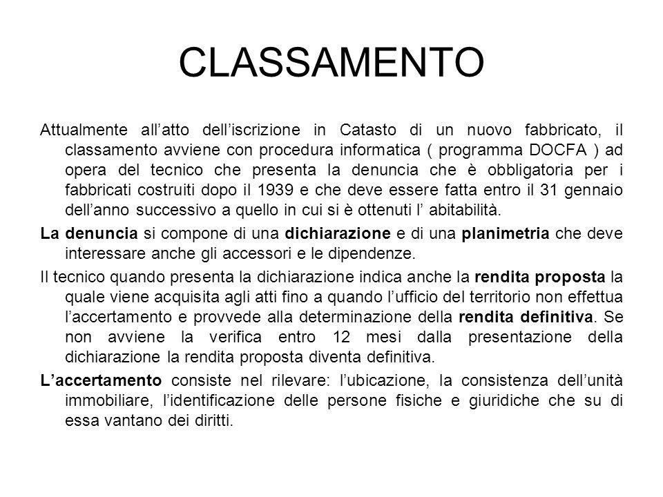 CLASSAMENTO