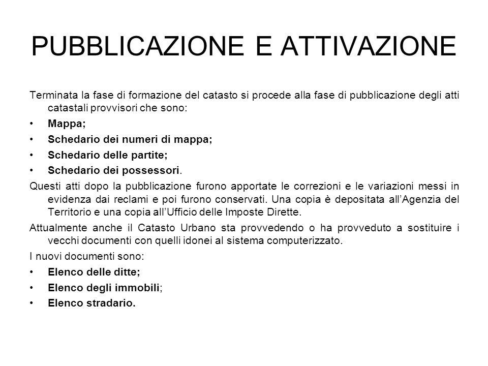 PUBBLICAZIONE E ATTIVAZIONE