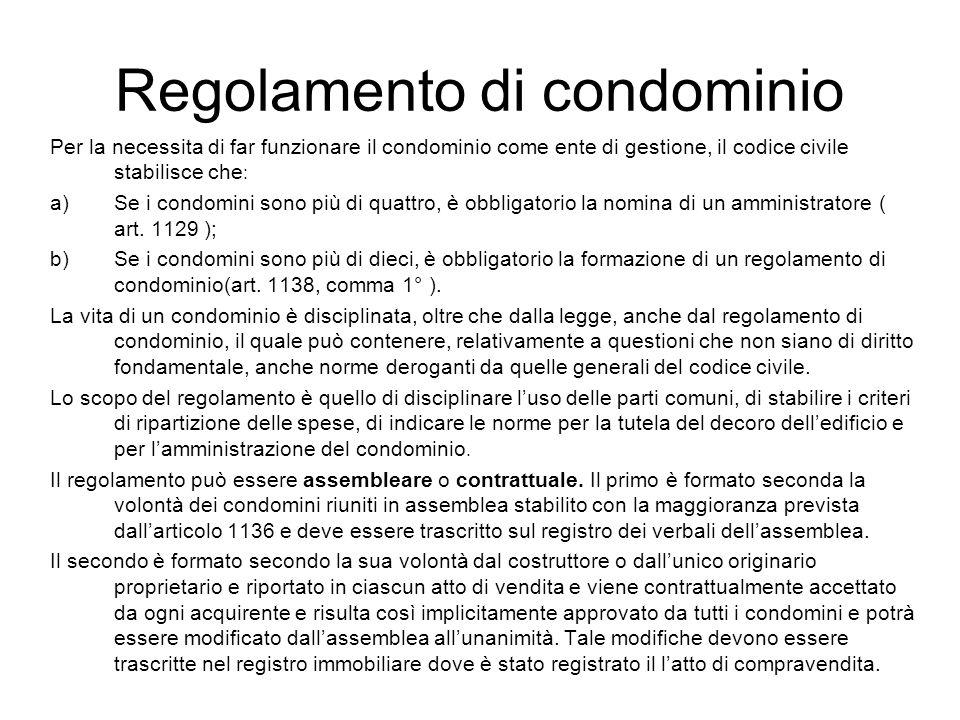 Stima dei condomini un condominio un fabbricato con pi unit immobiliari appartamenti for Regole di condominio