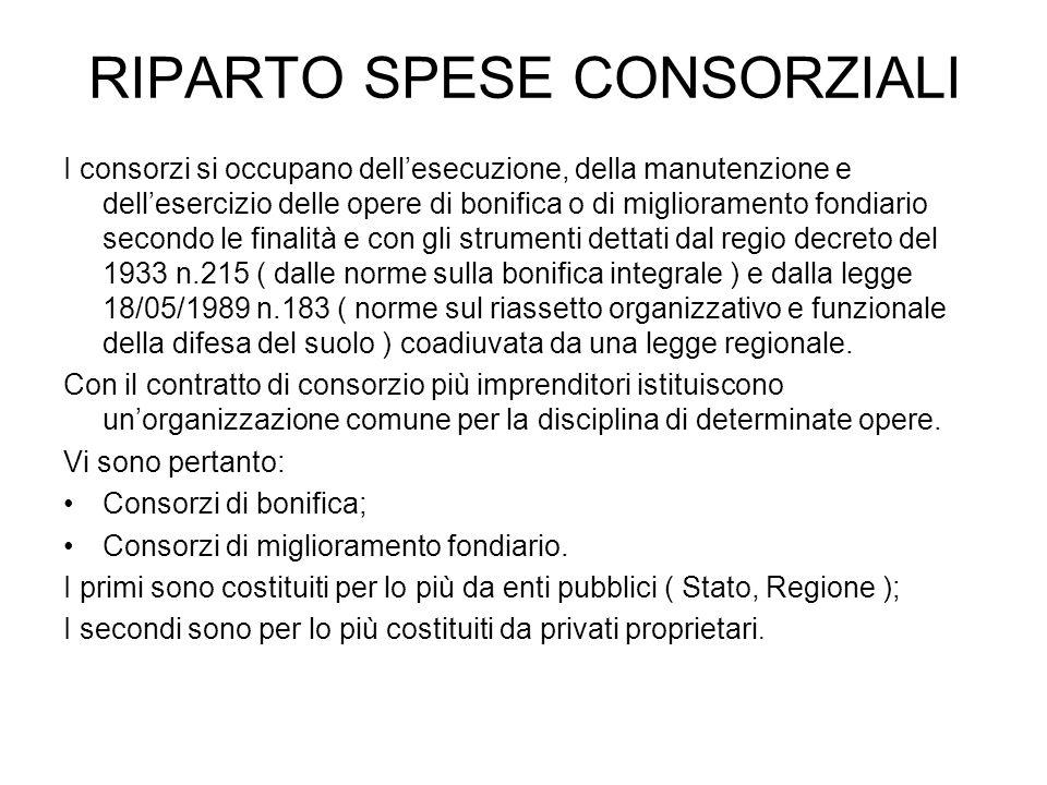 RIPARTO SPESE CONSORZIALI