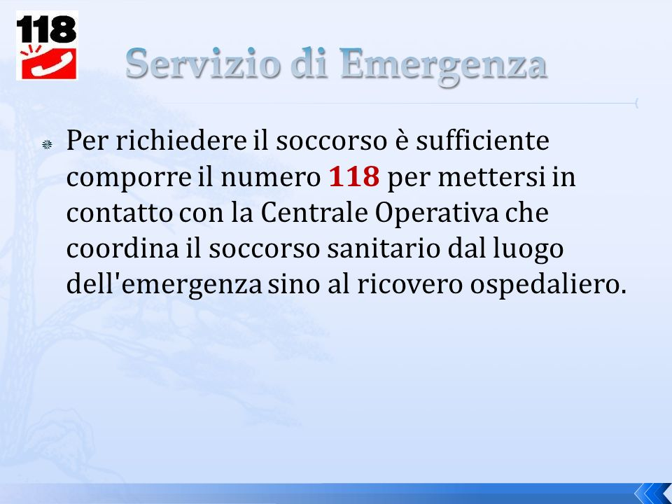 Servizio di Emergenza