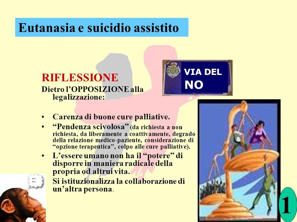 1 Eutanasia e suicidio assistito RIFLESSIONE VIA DEL NO