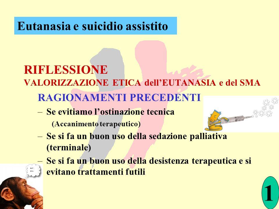 1 Eutanasia e suicidio assistito RIFLESSIONE RAGIONAMENTI PRECEDENTI