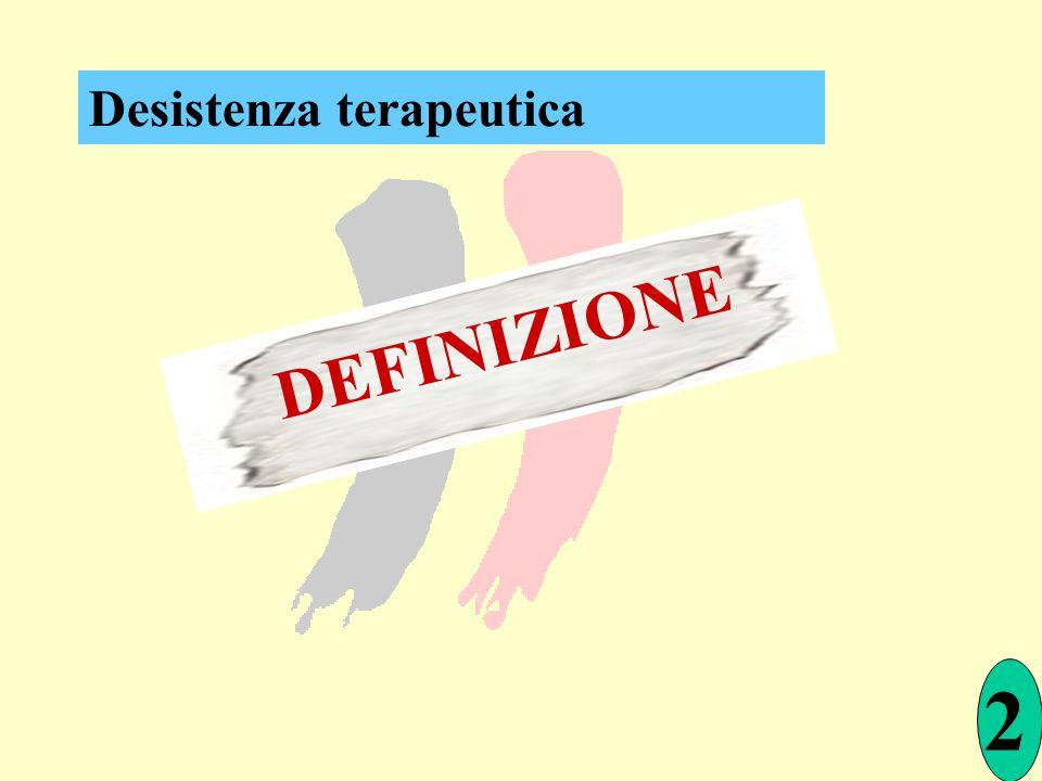 Desistenza terapeutica