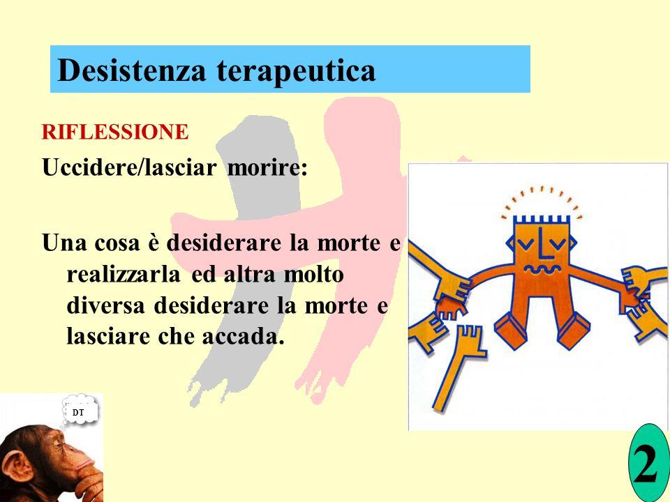 2 Desistenza terapeutica Uccidere/lasciar morire: