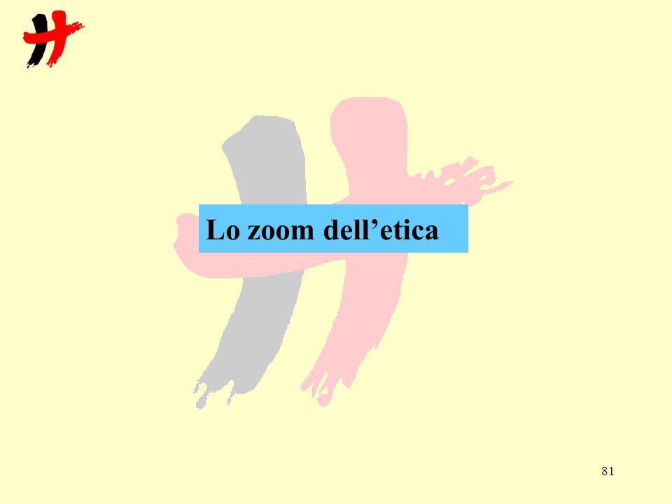 Lo zoom dell'etica