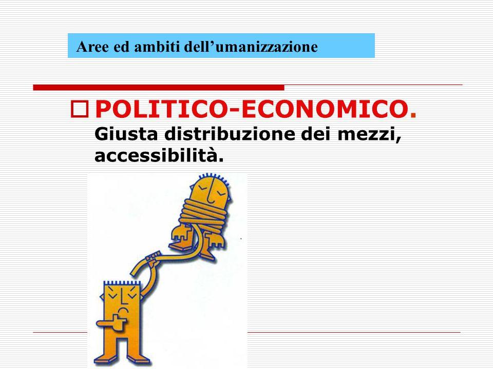 POLITICO-ECONOMICO. Giusta distribuzione dei mezzi, accessibilità.