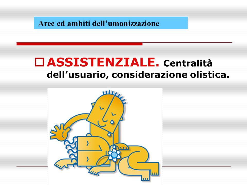 ASSISTENZIALE. Centralità dell'usuario, considerazione olistica.