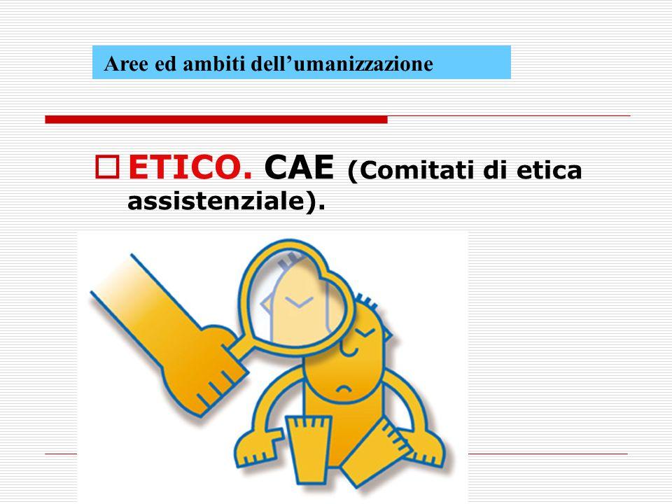 ETICO. CAE (Comitati di etica assistenziale).