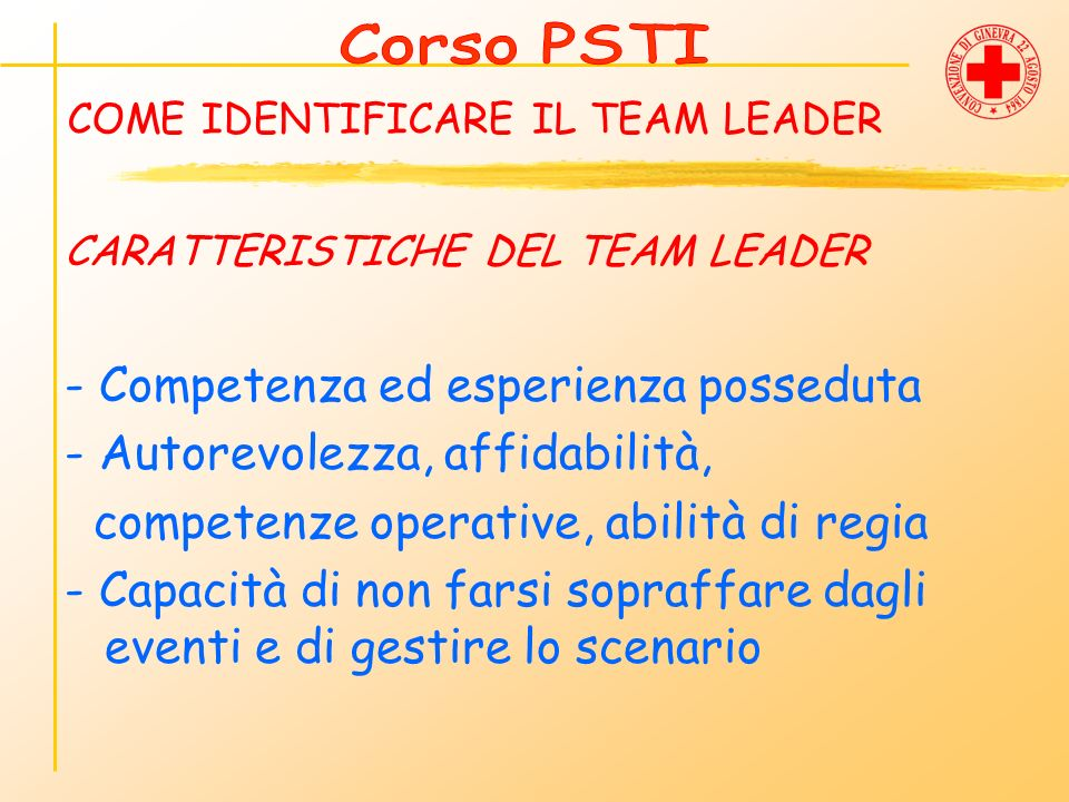 COME IDENTIFICARE IL TEAM LEADER