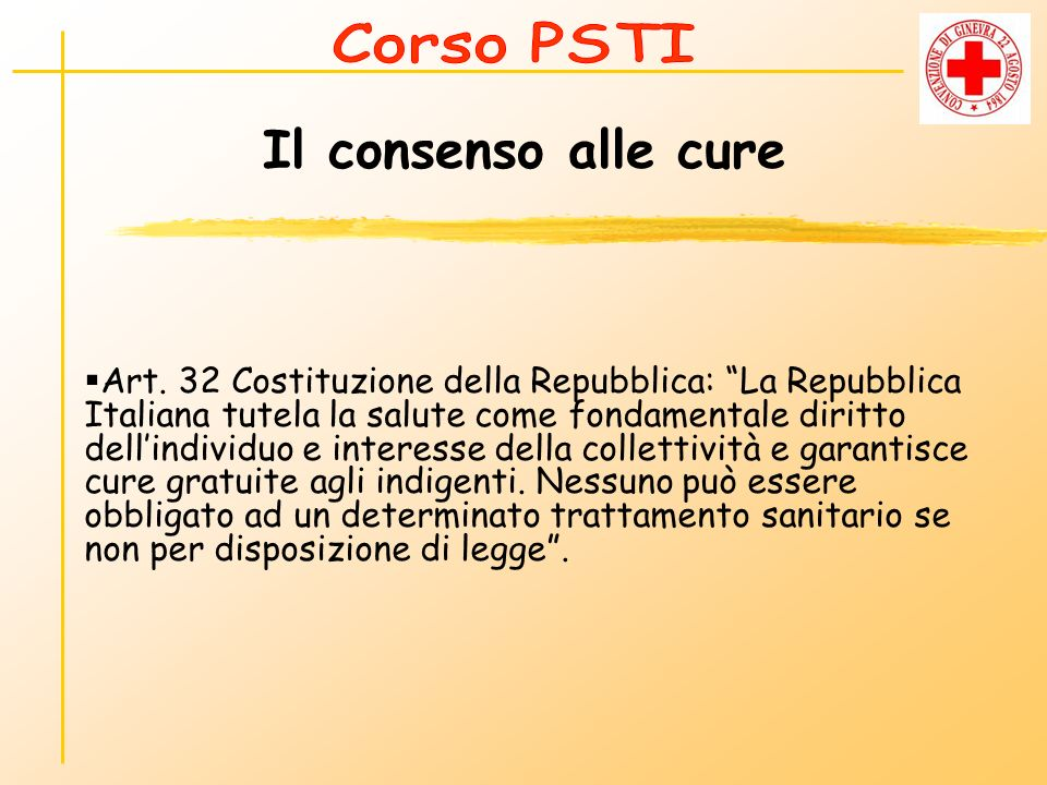 Corso PSTI Il consenso alle cure.