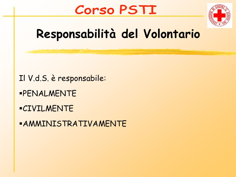 Responsabilità del Volontario