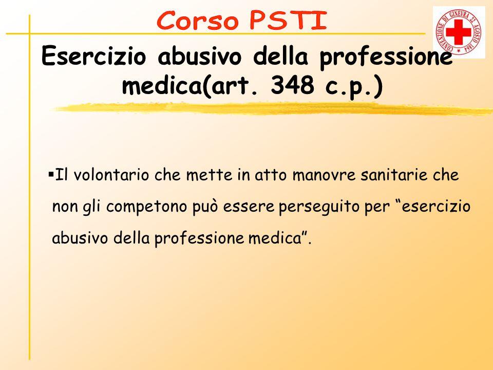 Esercizio abusivo della professione medica(art. 348 c.p.)