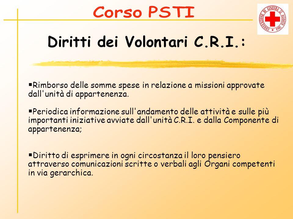 Diritti dei Volontari C.R.I.: