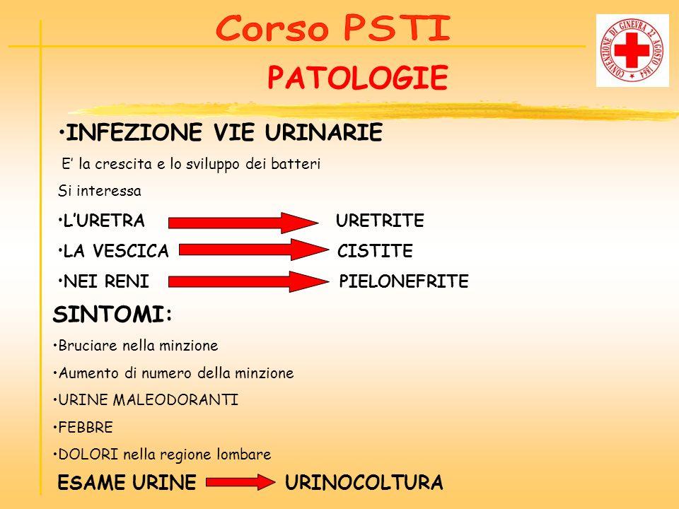 PATOLOGIE INFEZIONE VIE URINARIE SINTOMI: Corso PSTI