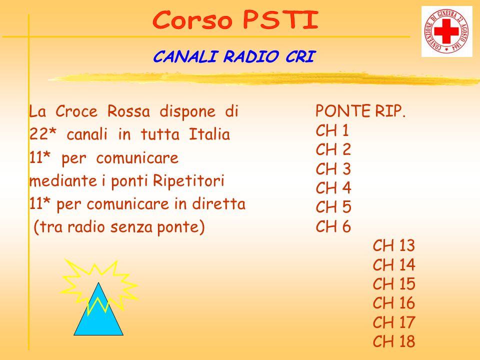 La Croce Rossa dispone di 22* canali in tutta Italia