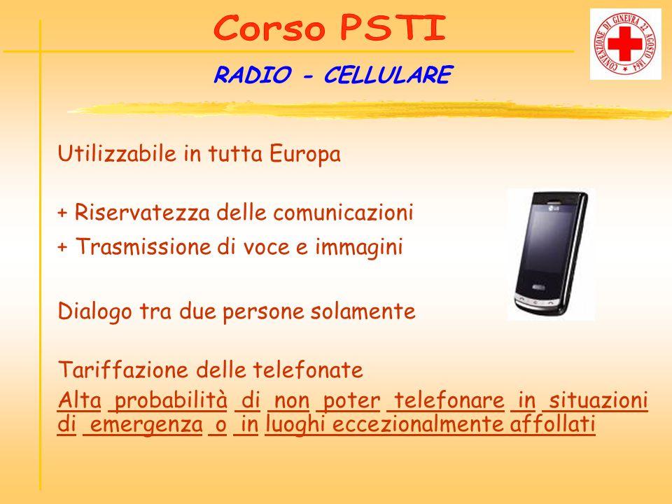 Utilizzabile in tutta Europa + Riservatezza delle comunicazioni