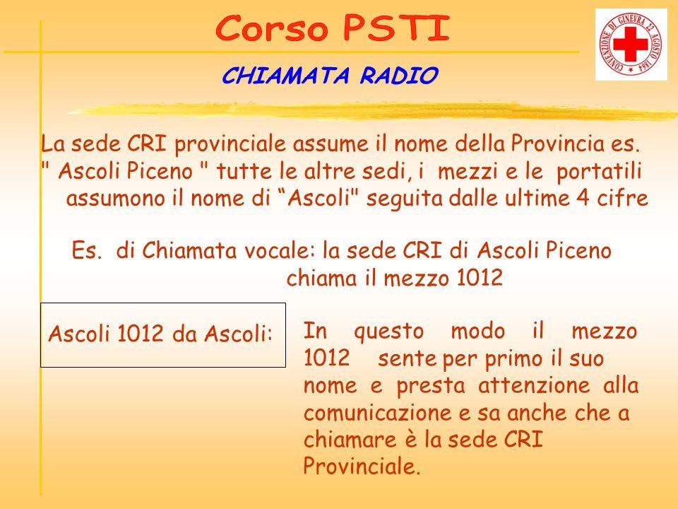Es. di Chiamata vocale: la sede CRI di Ascoli Piceno