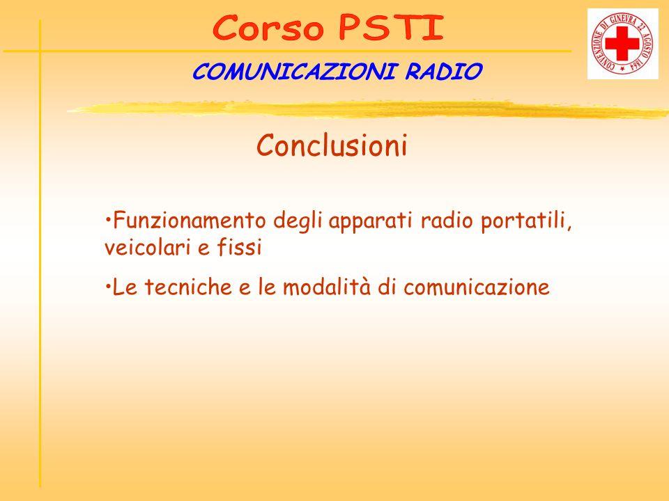 Conclusioni COMUNICAZIONI RADIO