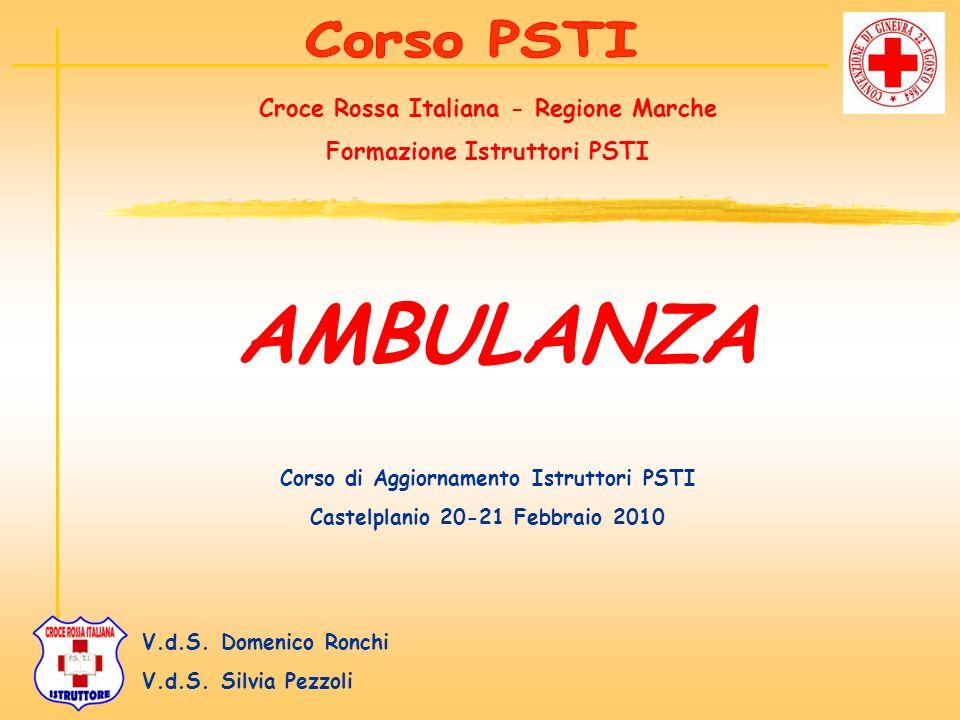 AMBULANZA Corso PSTI Croce Rossa Italiana - Regione Marche