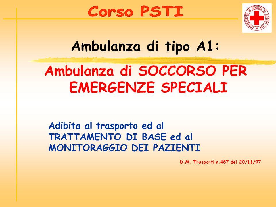 Ambulanza di SOCCORSO PER EMERGENZE SPECIALI
