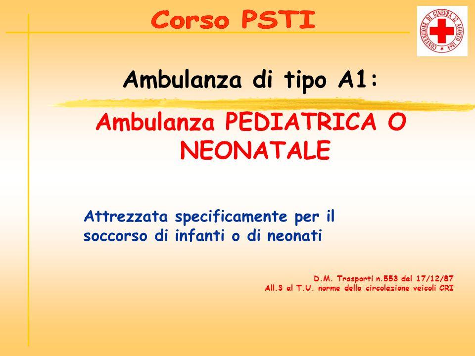 Ambulanza PEDIATRICA O NEONATALE