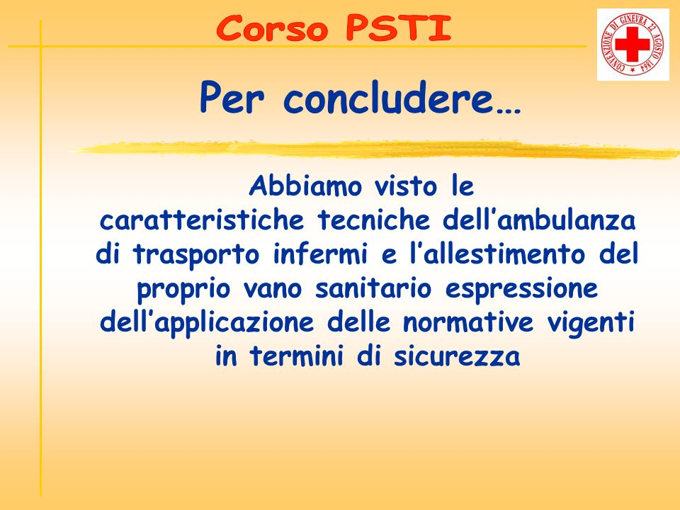 Corso PSTI Per concludere…