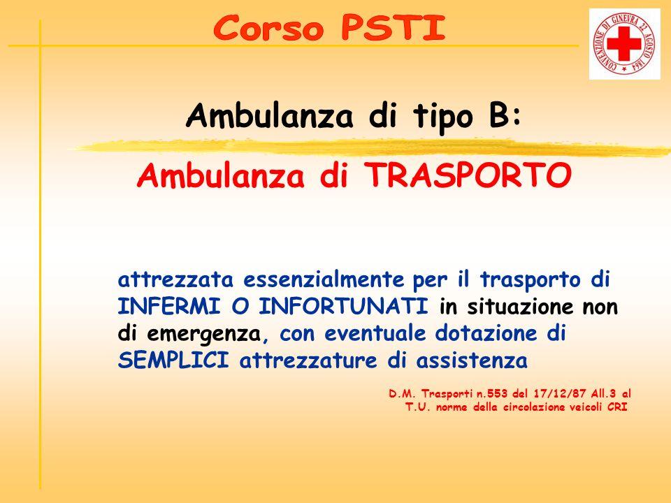 Ambulanza di TRASPORTO
