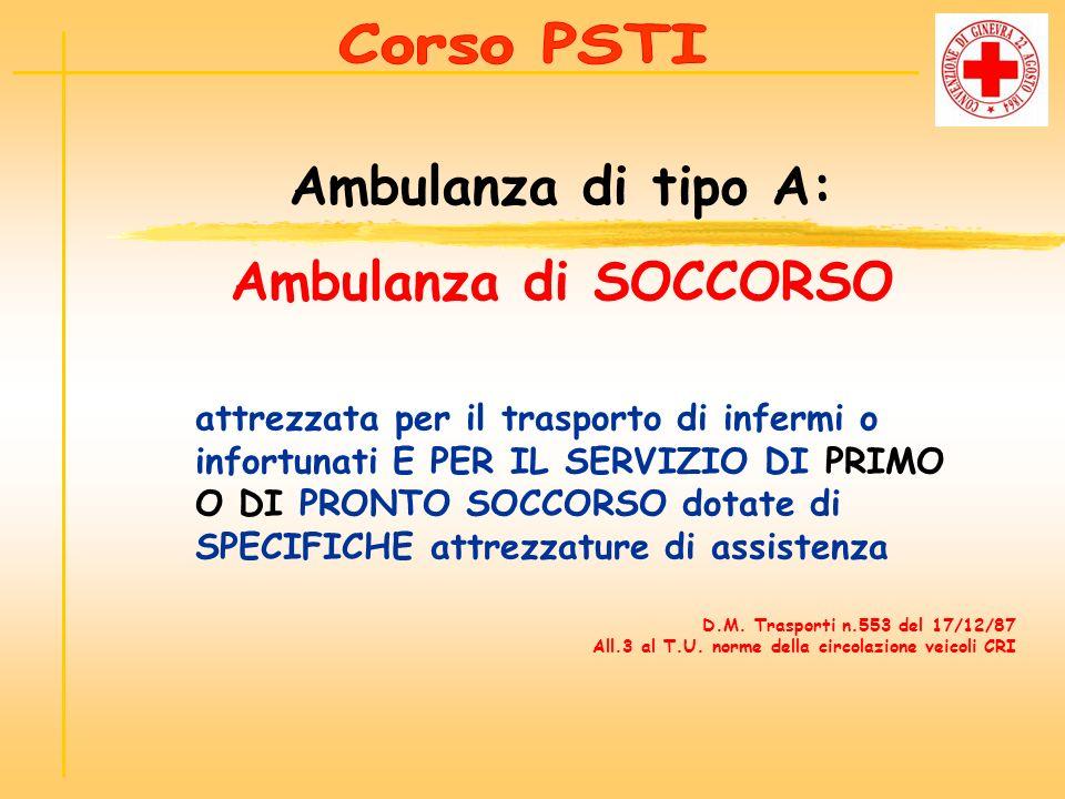 Ambulanza di tipo A: Ambulanza di SOCCORSO