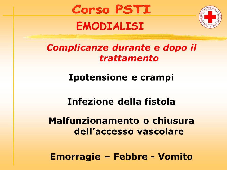 EMODIALISI Complicanze durante e dopo il trattamento