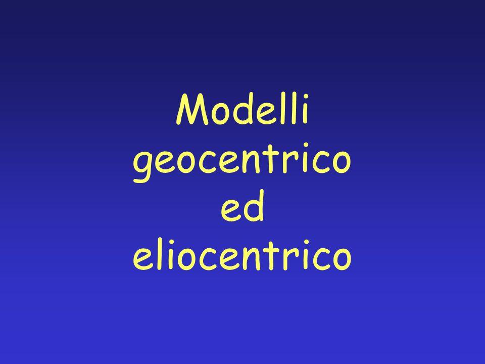 Modelli geocentrico ed eliocentrico