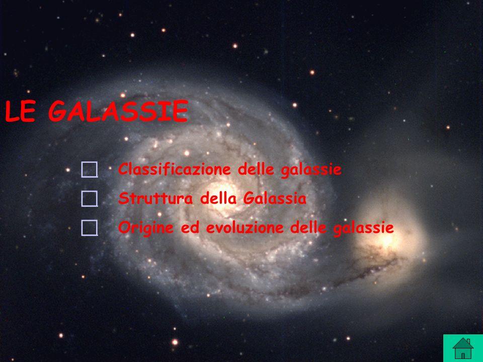 LE GALASSIE  Classificazione delle galassie