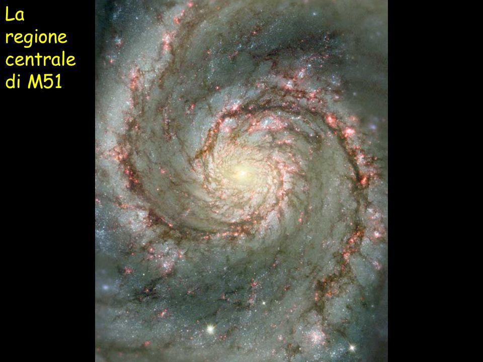 La regione centrale di M51