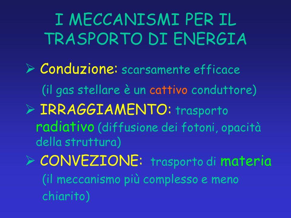 I MECCANISMI PER IL TRASPORTO DI ENERGIA