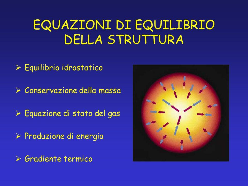 EQUAZIONI DI EQUILIBRIO DELLA STRUTTURA