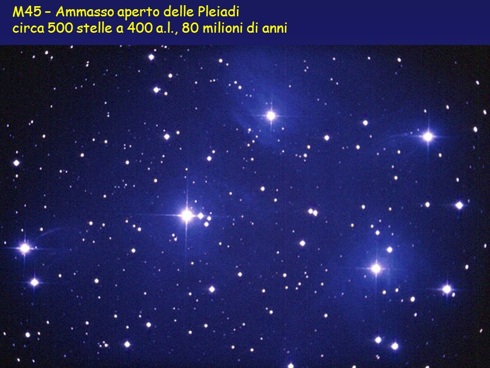 M45 – Ammasso aperto delle Pleiadi