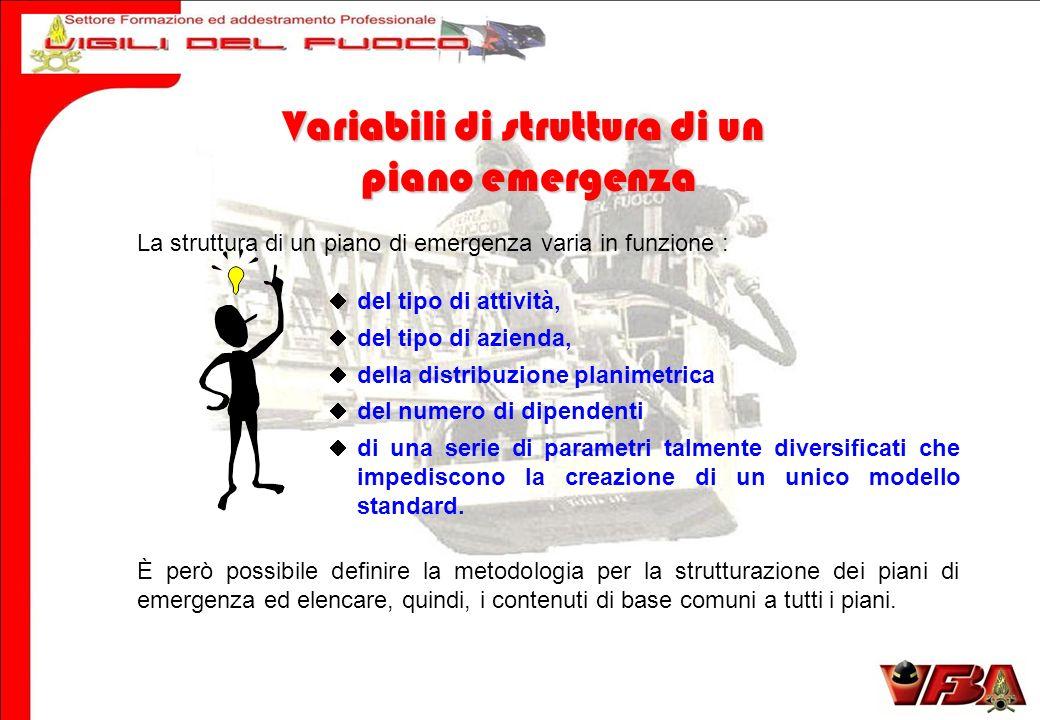 Variabili di struttura di un