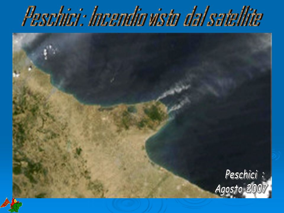 Peschici : Incendio visto dal satellite