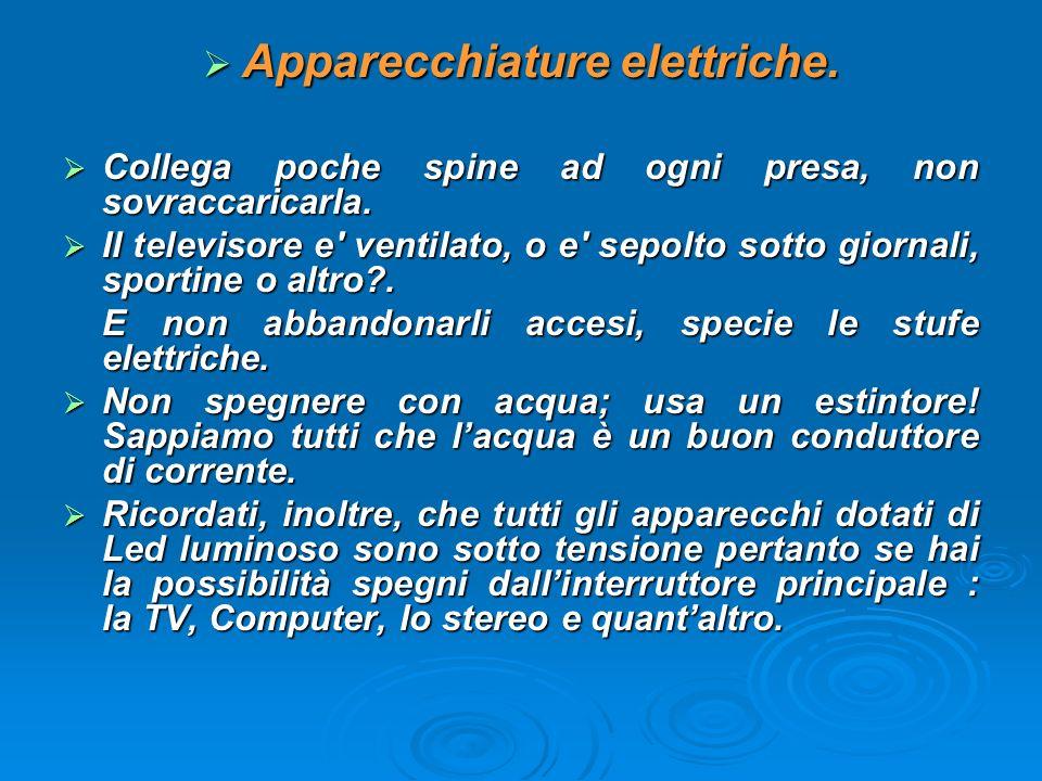 Apparecchiature elettriche.