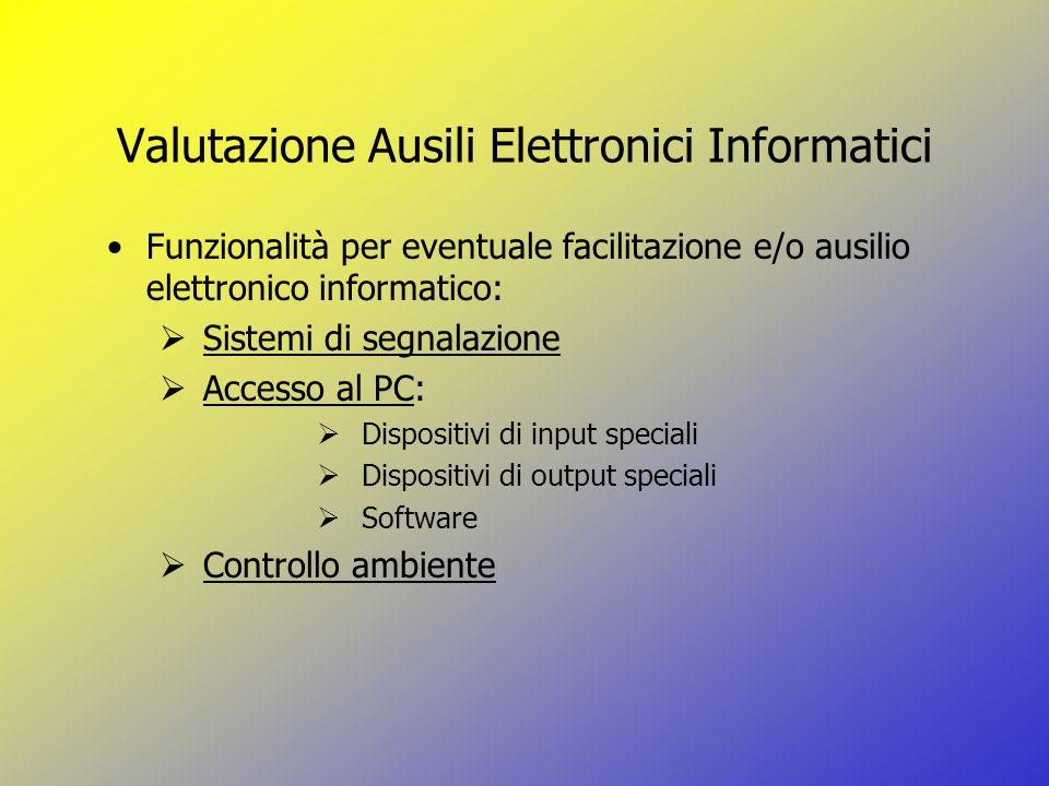 Valutazione Ausili Elettronici Informatici